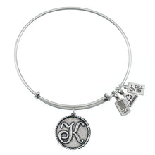 Load image into Gallery viewer, Wind & Fire Love Letter 'K' Charm Bangle