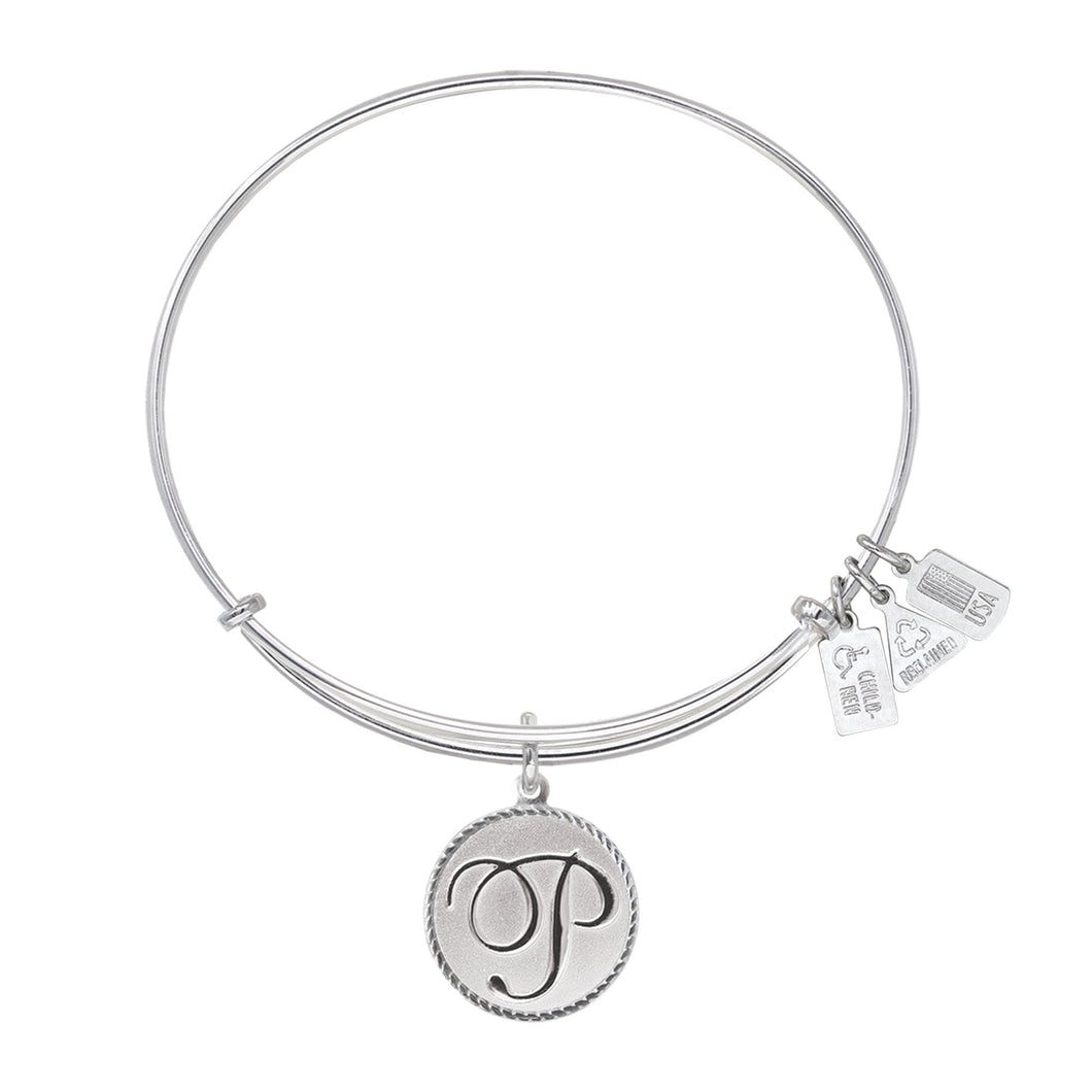 Wind & Fire Love Letter 'P' Charm Bangle