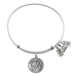 Wind & Fire Love Letter 'R' Charm Bangle