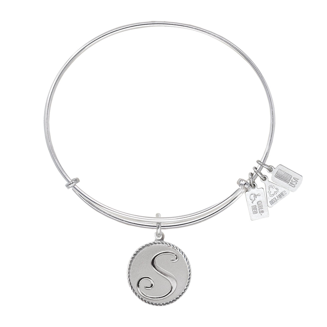 Wind & Fire Love Letter 'S' Charm Bangle