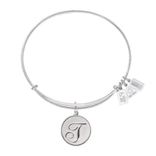 Load image into Gallery viewer, Wind & Fire Love Letter 'T' Charm Bangle