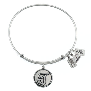 Wind & Fire Love Letter 'T' Charm Bangle