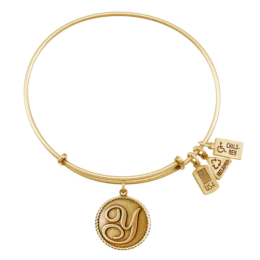 Wind & Fire Love Letter 'Y' Charm Bangle