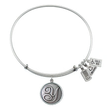 Load image into Gallery viewer, Wind & Fire Love Letter 'Y' Charm Bangle