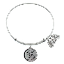 Load image into Gallery viewer, Wind & Fire Love Letter 'Z' Charm Bangle