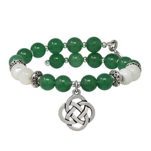 Load image into Gallery viewer, Wind & Fire Celtic Knot Green Aventurine Beaded Charm Wrap
