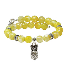 Load image into Gallery viewer, Wind & Fire Pineapple & Lemon Quartz Charm Wrap