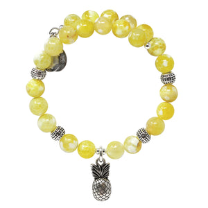 Wind & Fire Pineapple & Lemon Quartz Charm Wrap