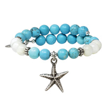 Load image into Gallery viewer, Wind & Fire Starfish & Turquoise Charm Wrap