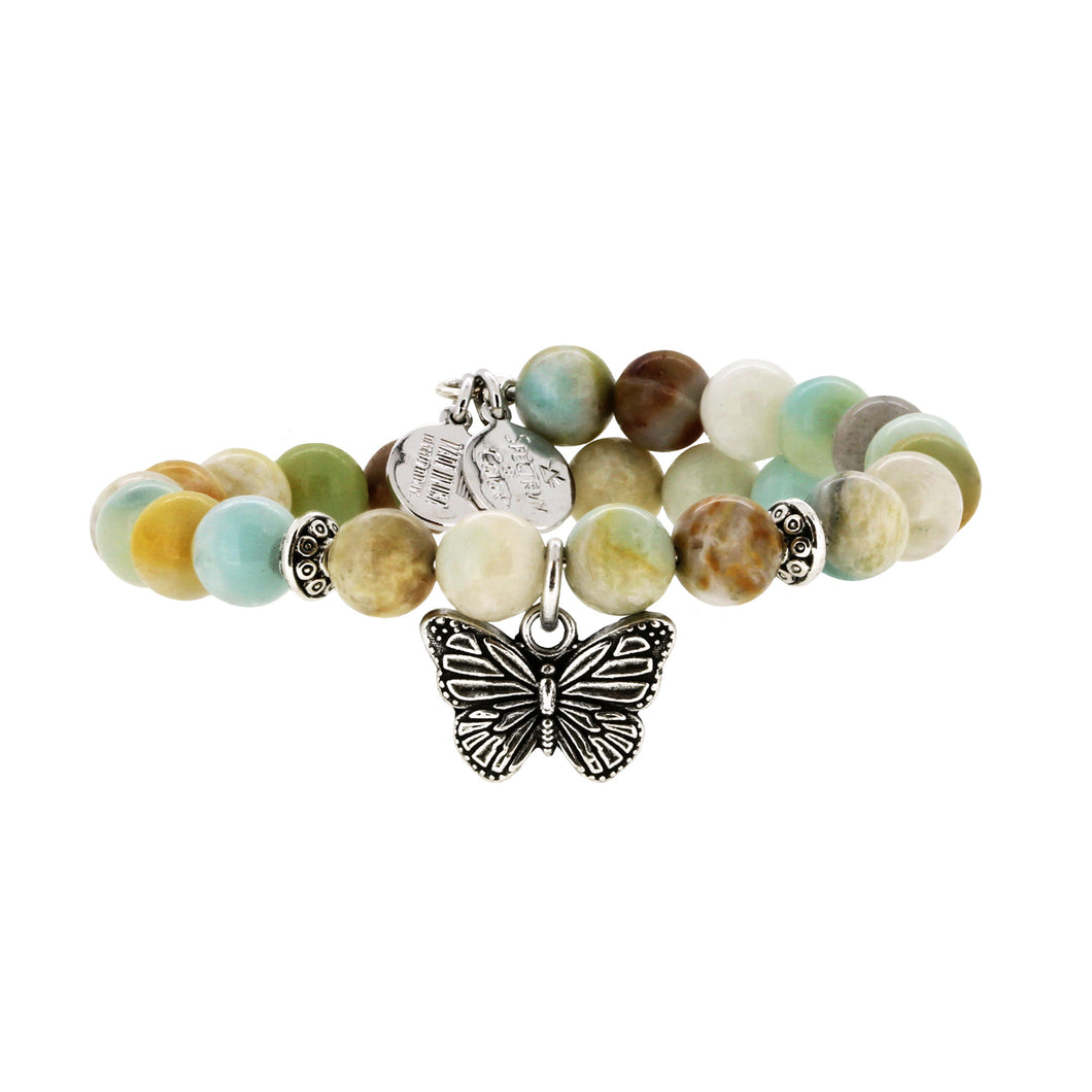 Wind & Fire Butterfly & Amazonite Charm Wrap