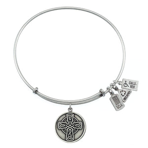 Wind & Fire Celtic Cross Charm Bangle
