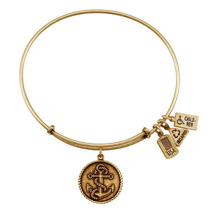 Wind & Fire Nautical Anchor Charm Bangle