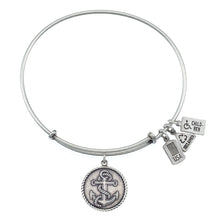Load image into Gallery viewer, Wind & Fire Nautical Anchor Charm Bangle
