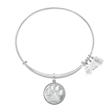 Wind & Fire Paw Print Charm Bangle