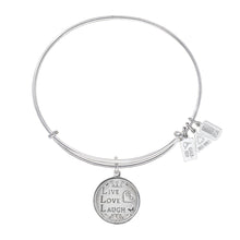 Load image into Gallery viewer, Wind & Fire Live Love Laugh Charm Bangle