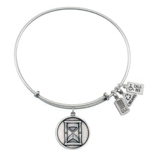 Load image into Gallery viewer, Wind & Fire Hour Glass Charm Bangle