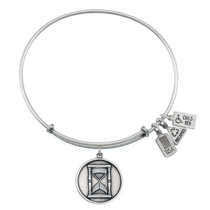 Wind & Fire Hour Glass Charm Bangle