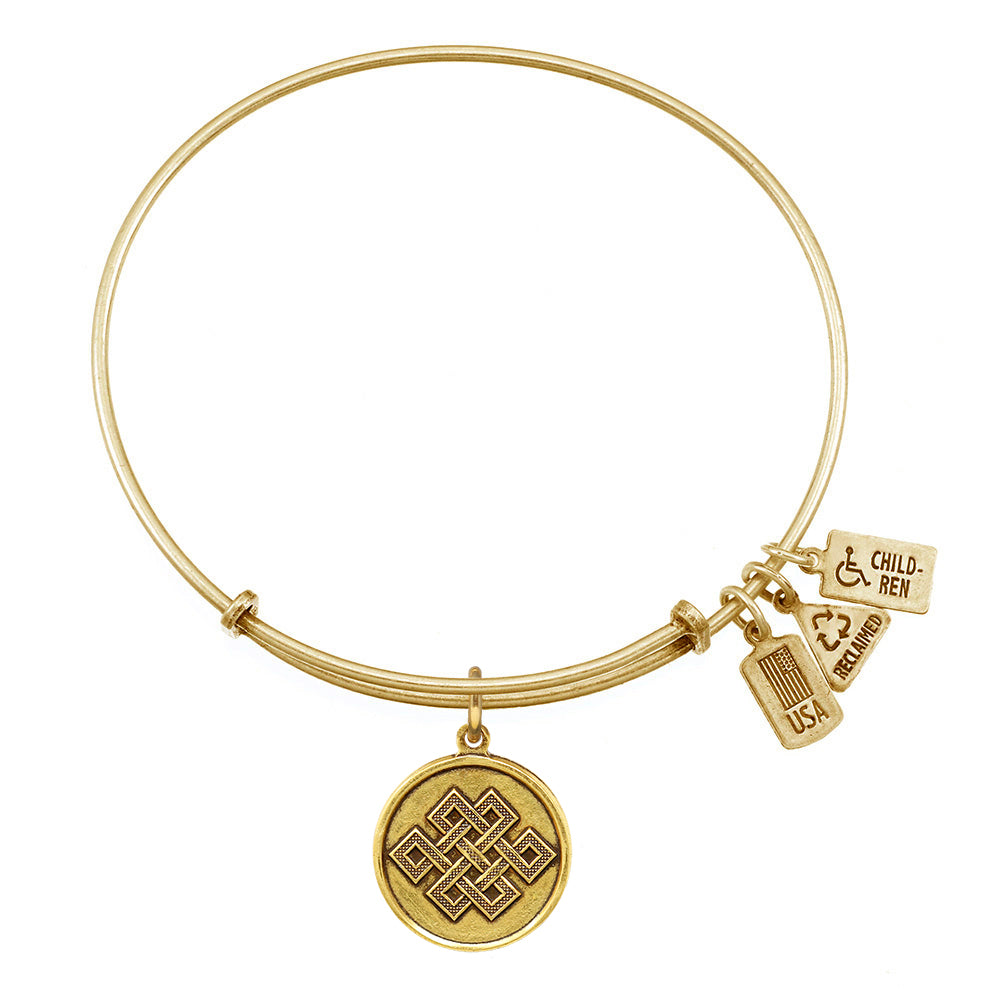 Wind & Fire Endless Knot Charm Bangle