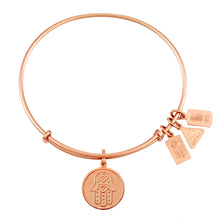 Load image into Gallery viewer, Wind & Fire Hamsa Charm Bangle