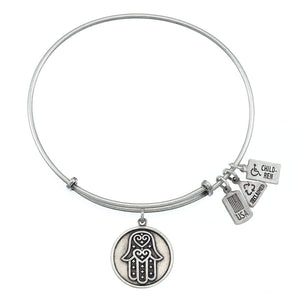 Wind & Fire Hamsa Charm Bangle