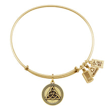 Load image into Gallery viewer, Wind & Fire Triquetra Celtic Knot Charm Bangle