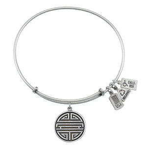 Wind & Fire Shou (Chinese Long Life) Charm Bangle