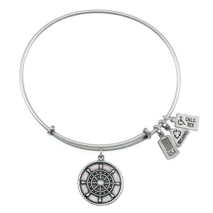 Wind & Fire Ship's Wheel Charm Bangle