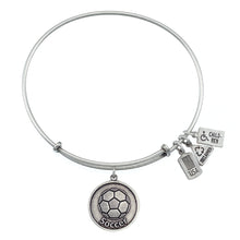 Load image into Gallery viewer, Wind & Fire Soccer Ball Charm Bangle