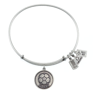 Wind & Fire Soccer Ball Charm Bangle