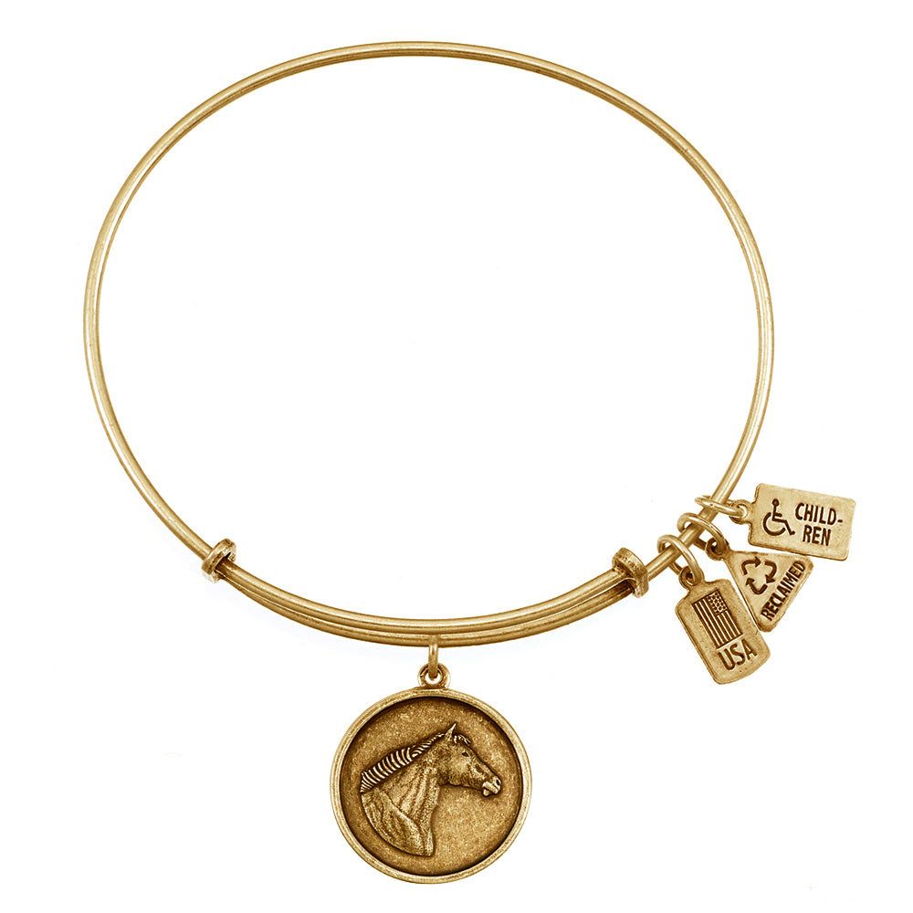Wind & Fire Horse Head Charm Bangle