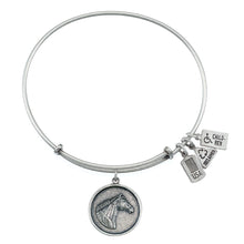 Load image into Gallery viewer, Wind & Fire Horse Head Charm Bangle