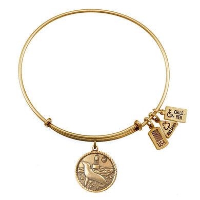 Wind & Fire Sea Lion Charm Bangle