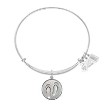 Load image into Gallery viewer, Wind & Fire Flip Flops Charm Bangle