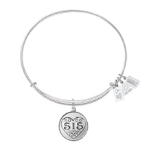 Load image into Gallery viewer, Wind & Fire Sis Filigree Heart Charm Bangle