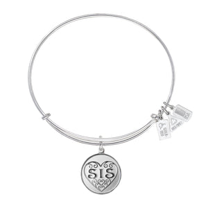 Wind & Fire Sis Filigree Heart Charm Bangle