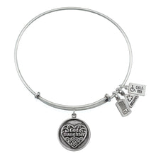 Load image into Gallery viewer, Wind & Fire Goddaughter Filigree Heart Charm Bangle