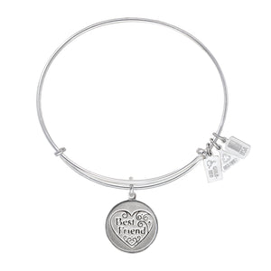 Wind & Fire Best Friend Filigree Heart Charm Bangle