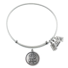Load image into Gallery viewer, Wind & Fire Keep Calm Charm Bangle