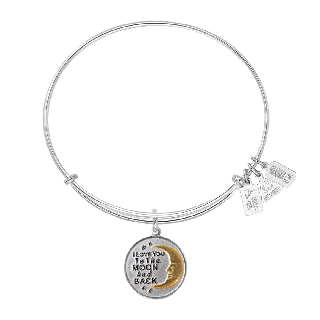 Wind & Fire I Love You To The Moon And Back Charm Bangle