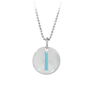 "Wind & Fire Turquoise ""I"" Sterling Silver Necklace"