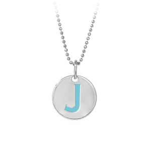 "Wind & Fire Turquoise ""J"" Sterling Silver Necklace"