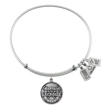 Load image into Gallery viewer, Wind & Fire Lacrosse Charm Bangle