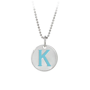 "Wind & Fire Turquoise ""K"" Sterling Silver Necklace"