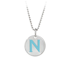 "Wind & Fire Turquoise ""N"" Sterling Silver Necklace"