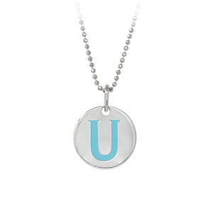 "Wind & Fire Turquoise ""U"" Sterling Silver Necklace"