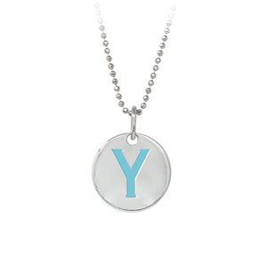 "Wind & Fire Turquoise ""Y"" Sterling Silver Necklace"