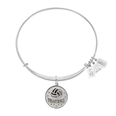 Wind & Fire Volleyball Charm Bangle