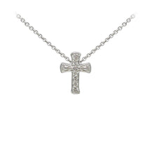 Load image into Gallery viewer, Wind & Fire Filigree Cross Sterling Silver Dainty Necklace