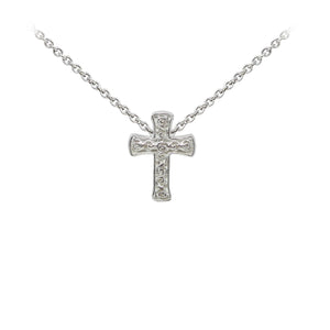 Wind & Fire Filigree Cross Sterling Silver Dainty Necklace