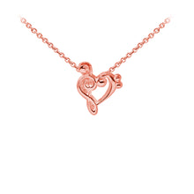 Load image into Gallery viewer, Wind & Fire Music Heart Sterling Silver Dainty Necklace